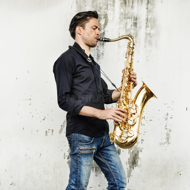 Alto Saxophone Artist Classical Jazz Musician Sax Concept. Alto Saxophone Artist Classical Jazz Musician Sax royalty free stock photo