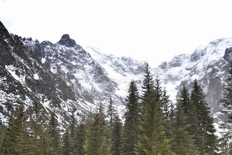 Alto Tatras en Polonia, las montañas alrededor del lago Morskie Oko imagenes de archivo