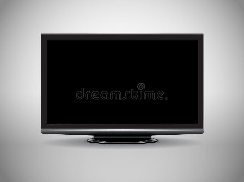 Alto televisore moderno di definizione illustrazione vettoriale