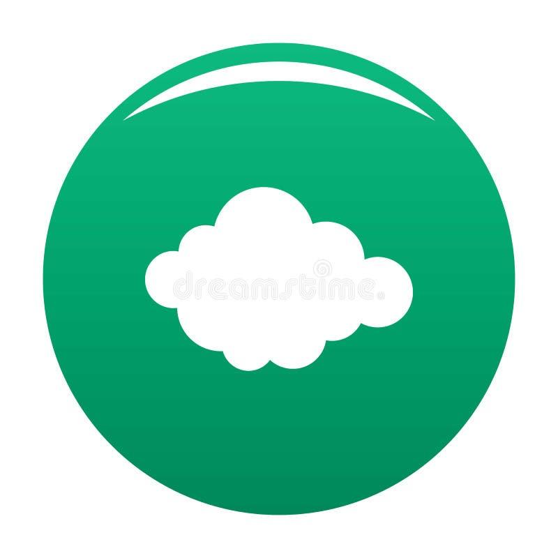 Alto verde acodado del vector del icono de la nube libre illustration