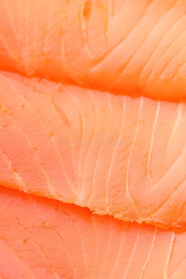 Alto vicino del salmone affumicato fotografia stock libera da diritti