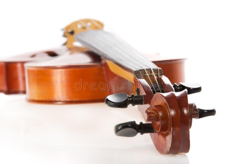 Alto vicino del violino fotografia stock