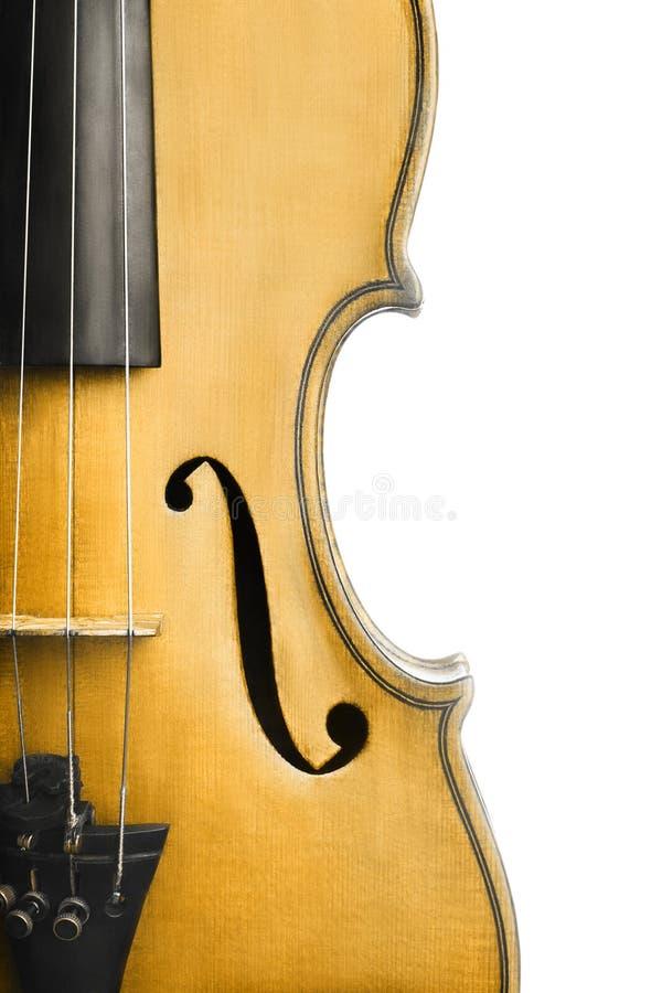 Alto vicino del violino immagini stock libere da diritti