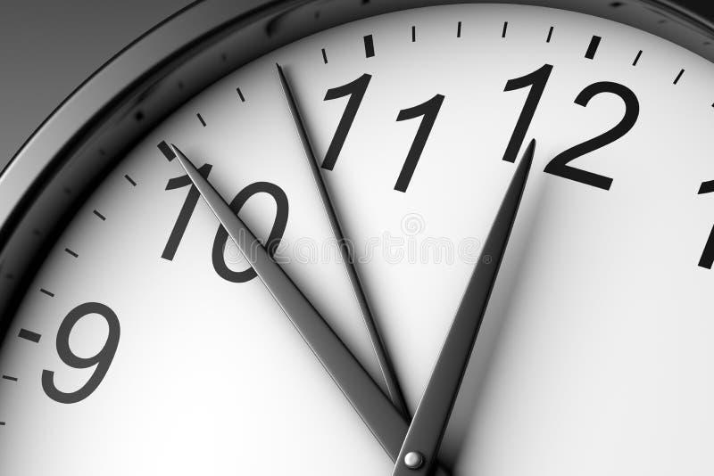 Download Alto vicino dell'orologio illustrazione di stock. Illustrazione di mano - 55364178