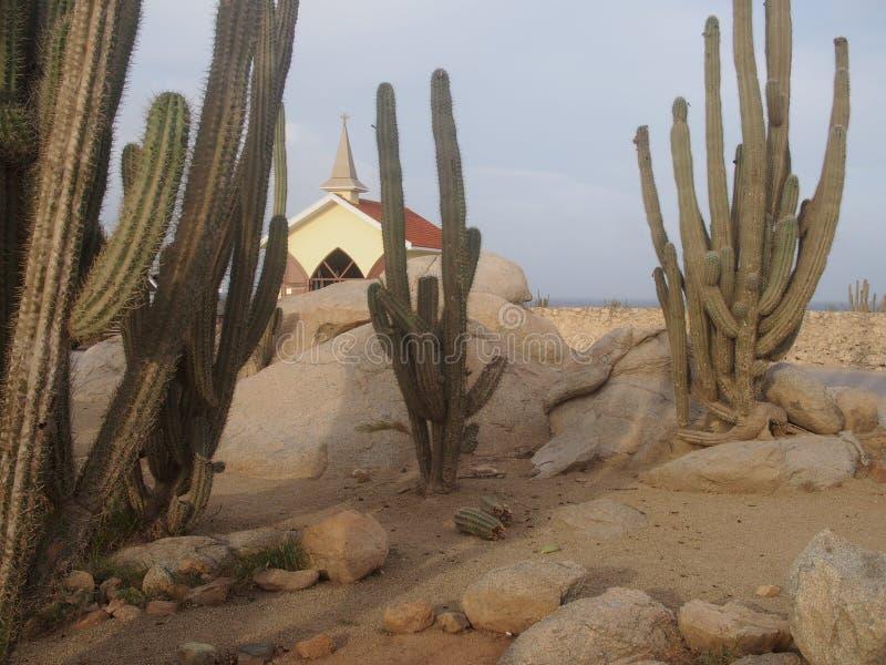 Alto Vista Chapel Aruba stock foto's