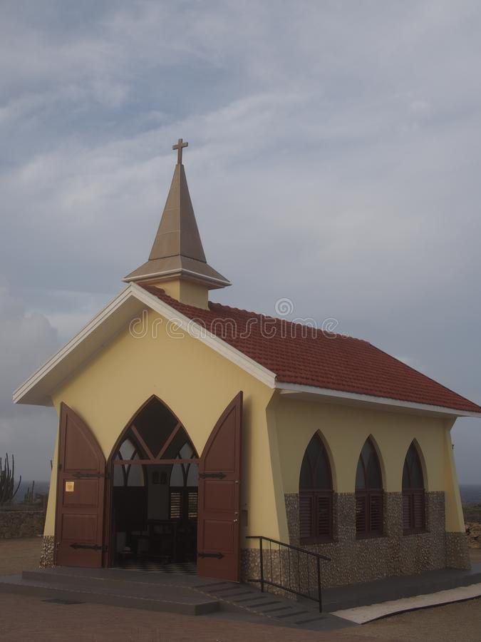 Alto Vista Chapel Aruba royalty-vrije stock afbeelding