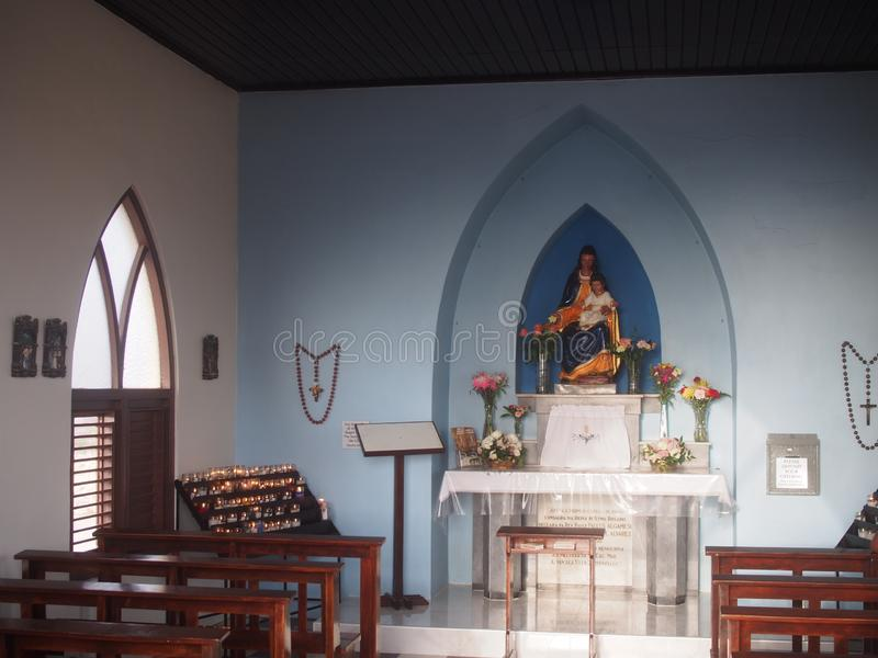 Alto Vista Chapel Aruba stock afbeelding