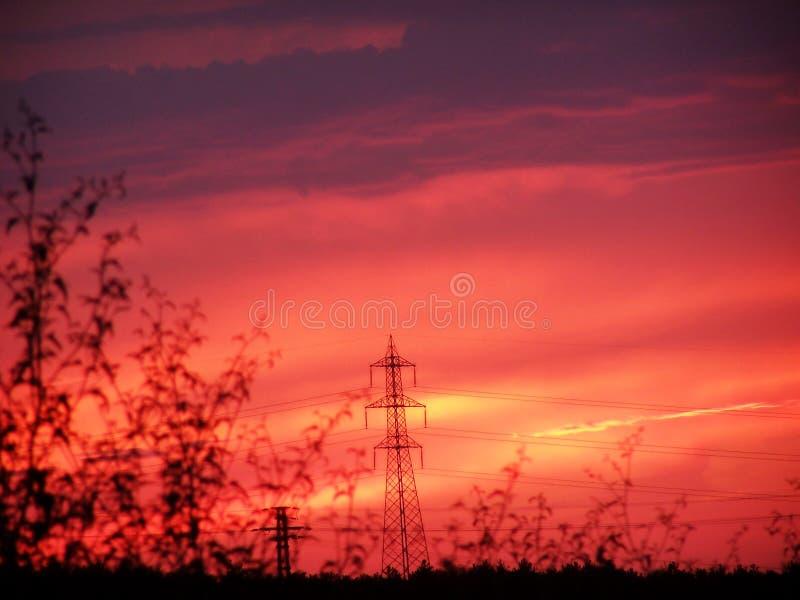 Download Alto voltaje 3 imagen de archivo. Imagen de metal, nubes - 187349