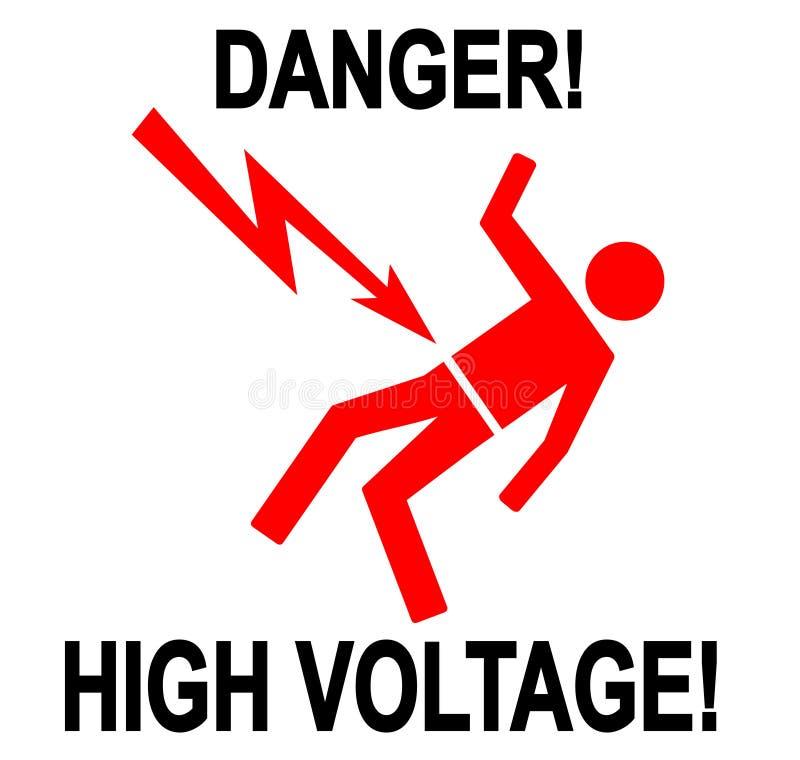 Alto voltaje del peligro libre illustration