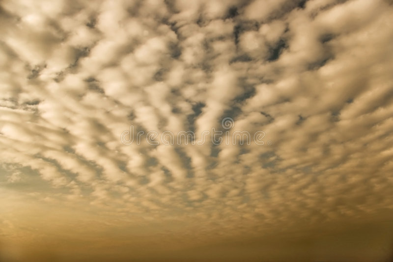 Altocumuluswolken lizenzfreie stockbilder