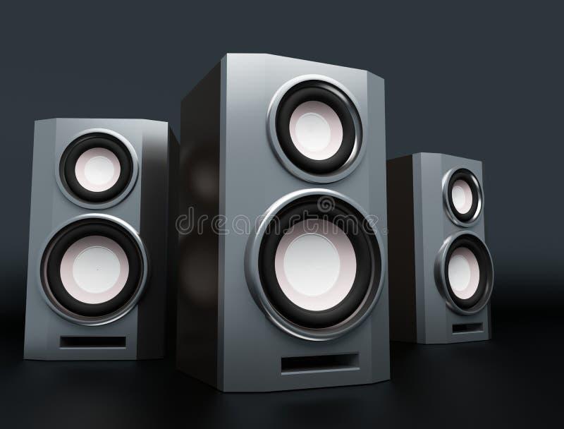 Altofalante, altifalante, woofer, speakerbox ilustração royalty free
