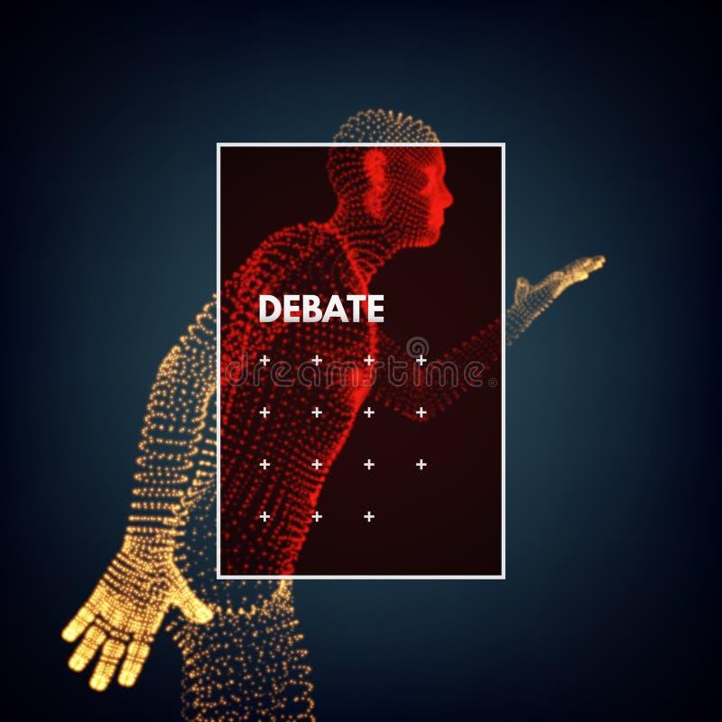 altofalante Conceito dos debates, do seminário ou da eleição Candidato do partido envolvido no debate ilustração stock
