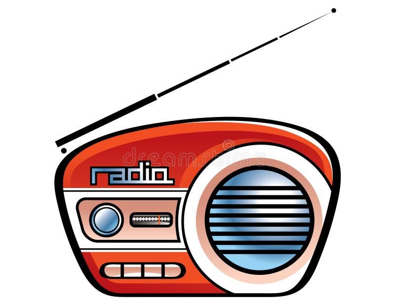 Altofalante de rádio ilustração royalty free
