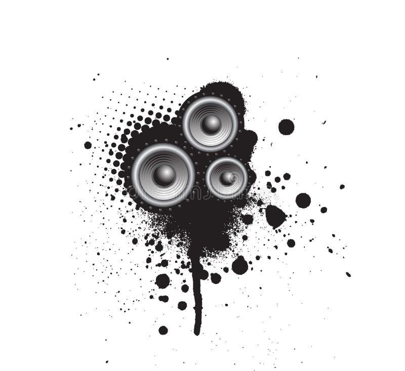 Altofalante do partido de Grunge ilustração stock