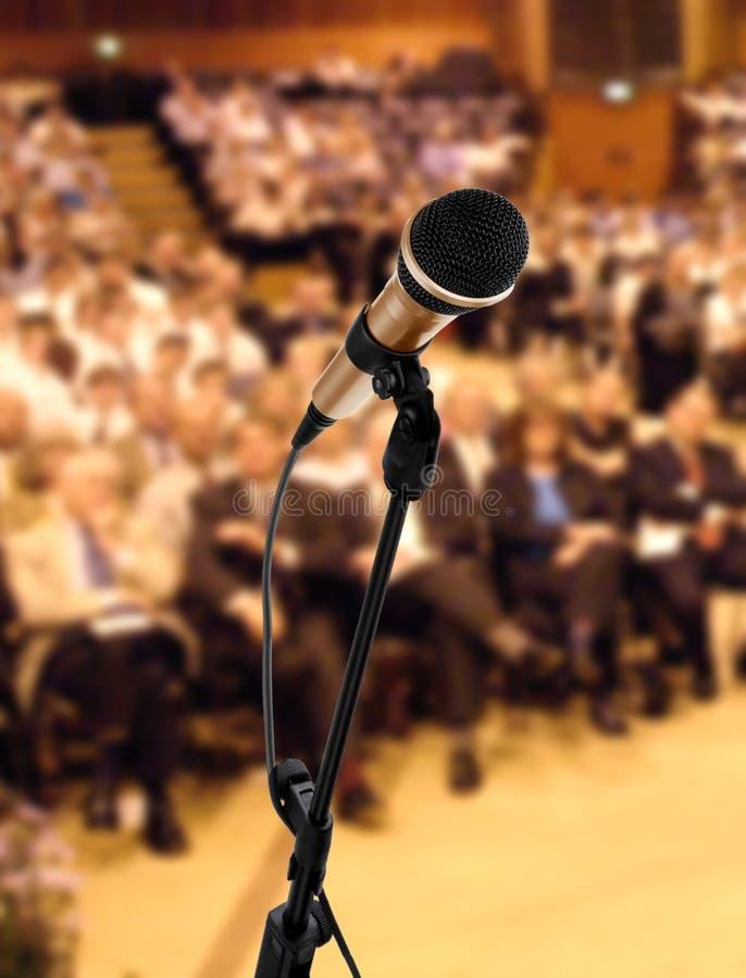 Altofalante no seminário imagem de stock royalty free