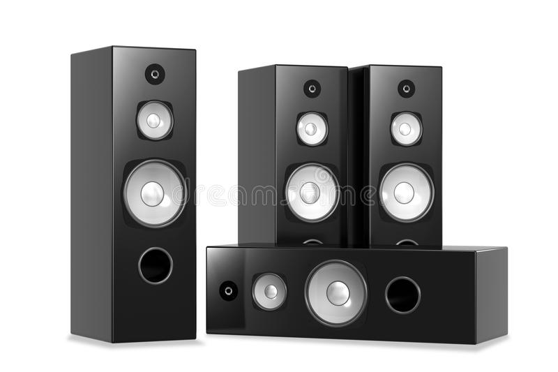 Altofalantes audio grandes ilustração royalty free