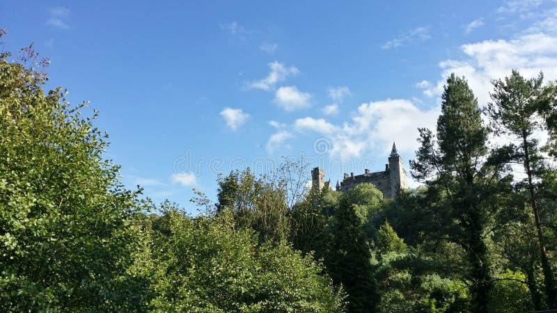 Alton Castle Staffordshire royaltyfri fotografi