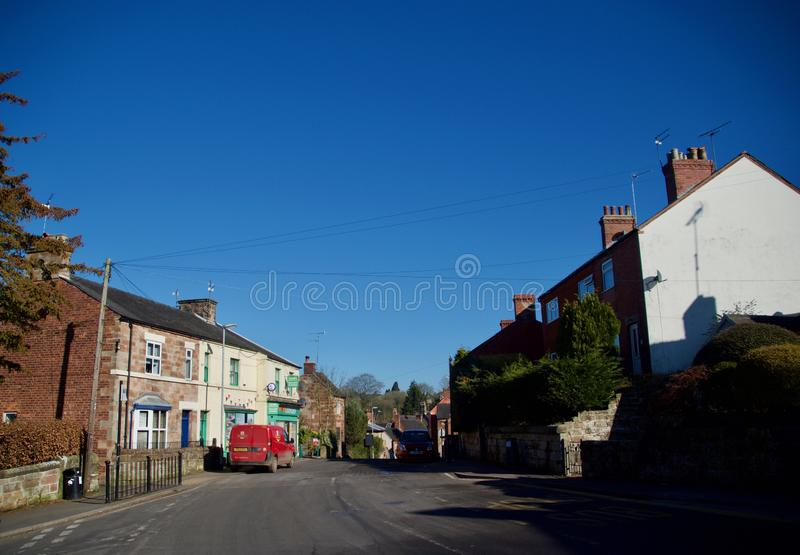 View of Alton village. Alton Village near Stoke-on-Trent Staffordshire England united kingdom royalty free stock photos
