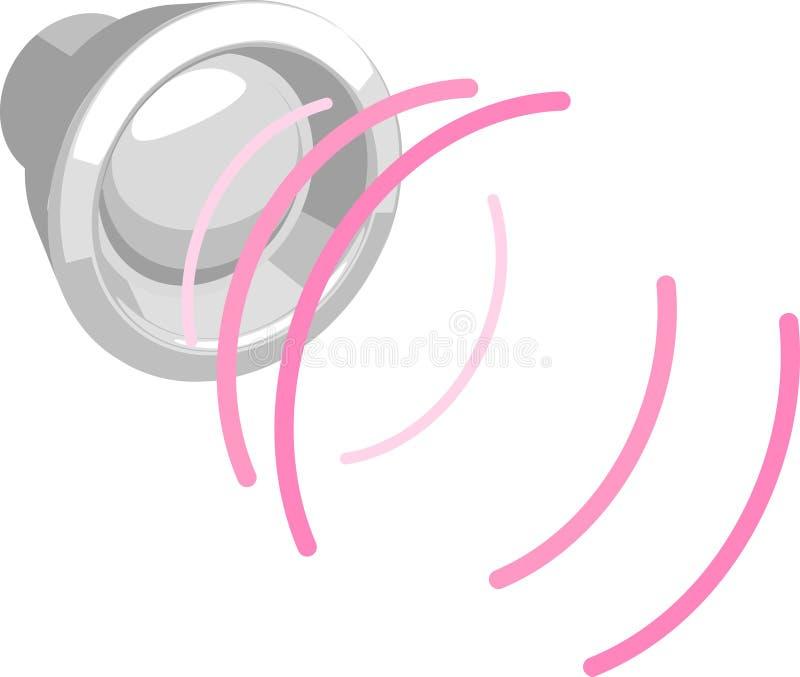 Altoparlante con le onde sonore illustrazione di stock