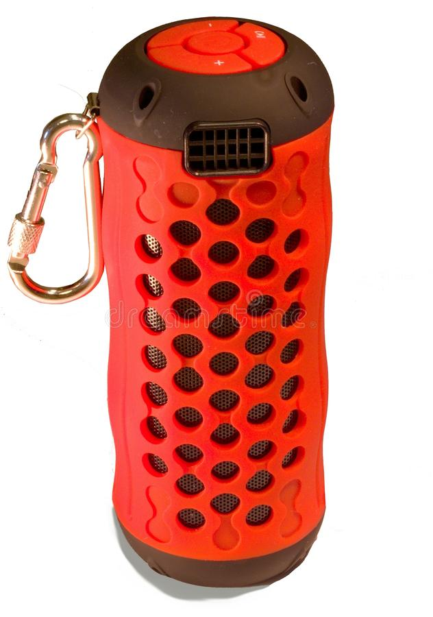 Altoparlante di rosso di Mini Wireless Bluetooth fotografia stock libera da diritti