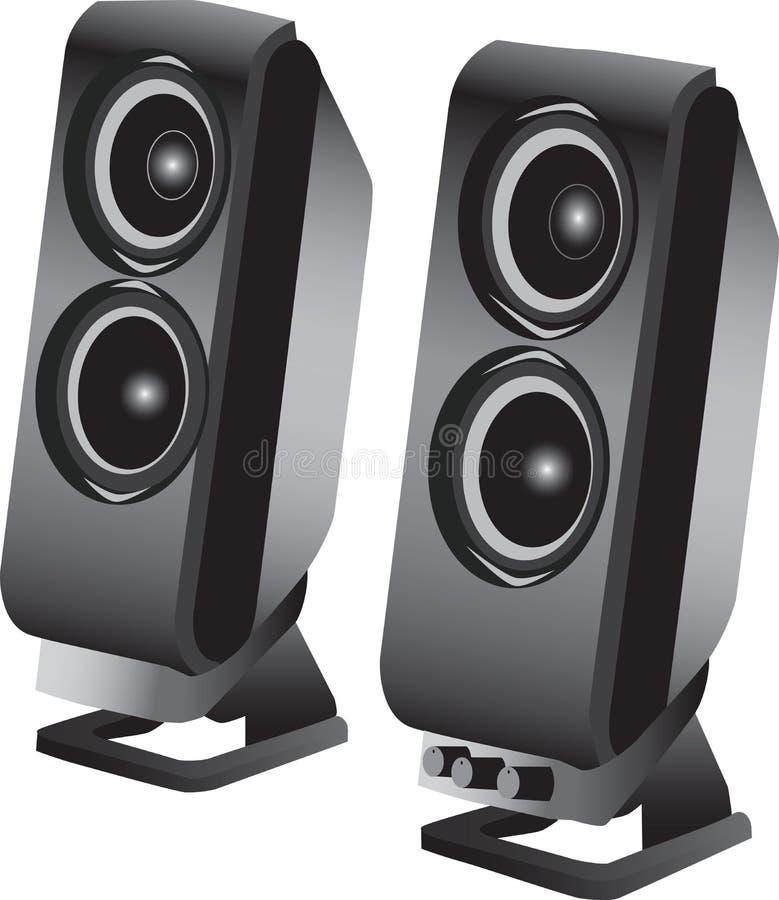 Altoparlanti stereo illustrazione vettoriale