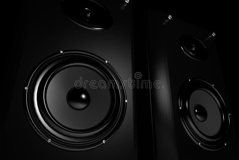 Altoparlanti stereo di qualità superiore illustrazione vettoriale