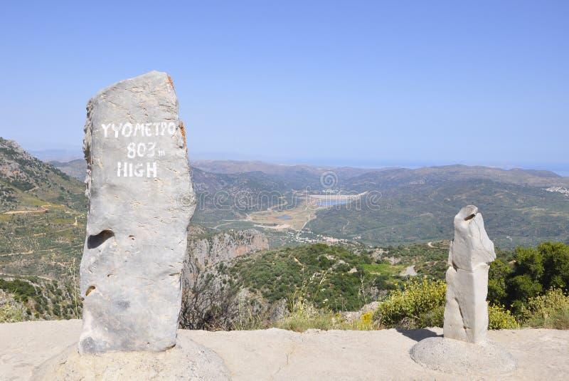 Altopiani di Creta fotografia stock libera da diritti