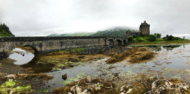 Altopiani, isola di Skye, castello di Eilean Donan immagini stock libere da diritti