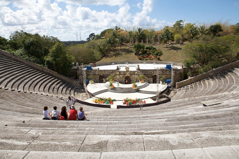 Altos de Chavón Amphitheater royalty free stock image