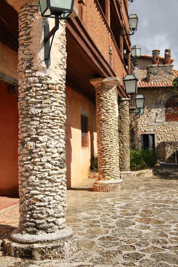 Altos de Chavon. Ancient town Altos de Chavon stock images
