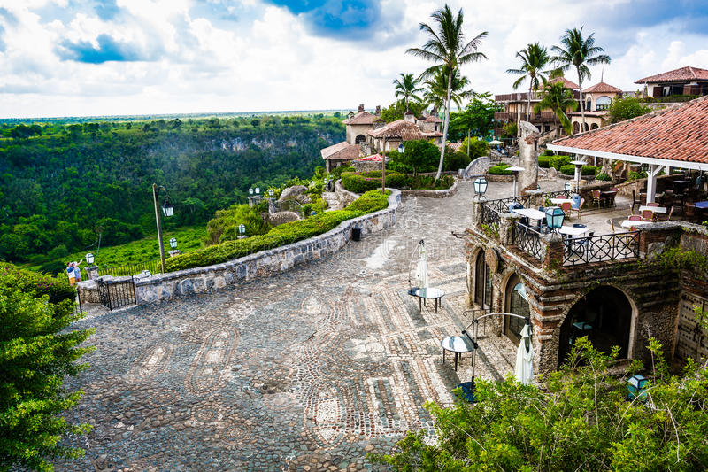 Altos de Chavon, Dominican Republic. View from above of a medieval village Altos de Chavon, Dominican Republic royalty free stock photography