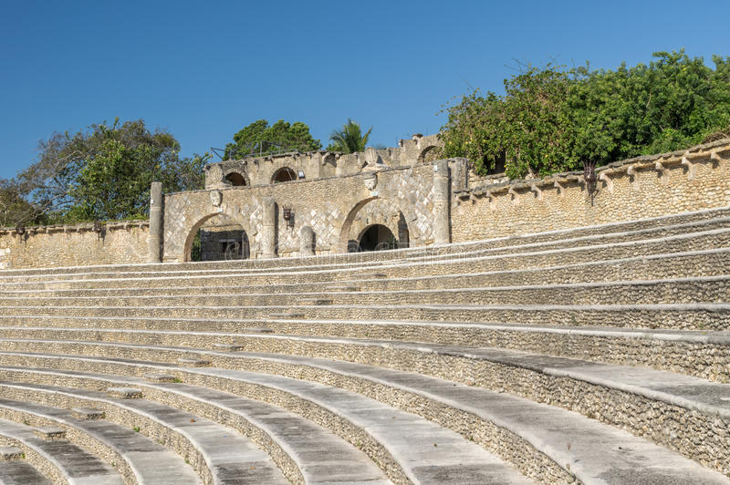 Altos de Chavon. Fragment of amphitheater in Altos de Chavon, Dominican Republic stock images