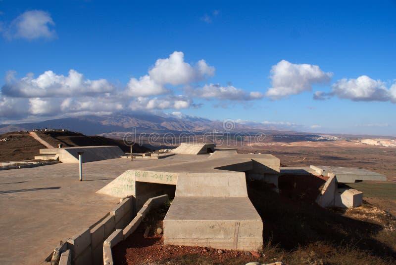 Altos del Golán de paisaje rural foto de archivo