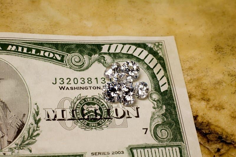 Altos diamantes del dólar imagen de archivo libre de regalías