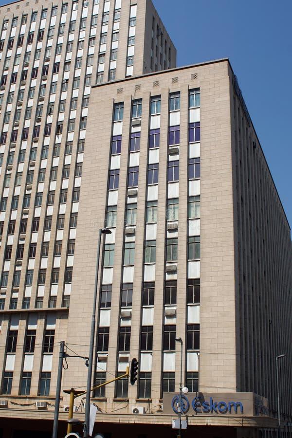 Altos edificios de la subida adentro en el centro de la ciudad, Johannesburgo, Suráfrica imagen de archivo libre de regalías
