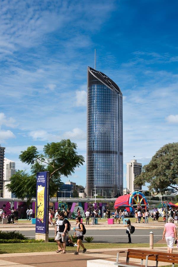 Altos edificios de la subida en Brisbane foto de archivo libre de regalías