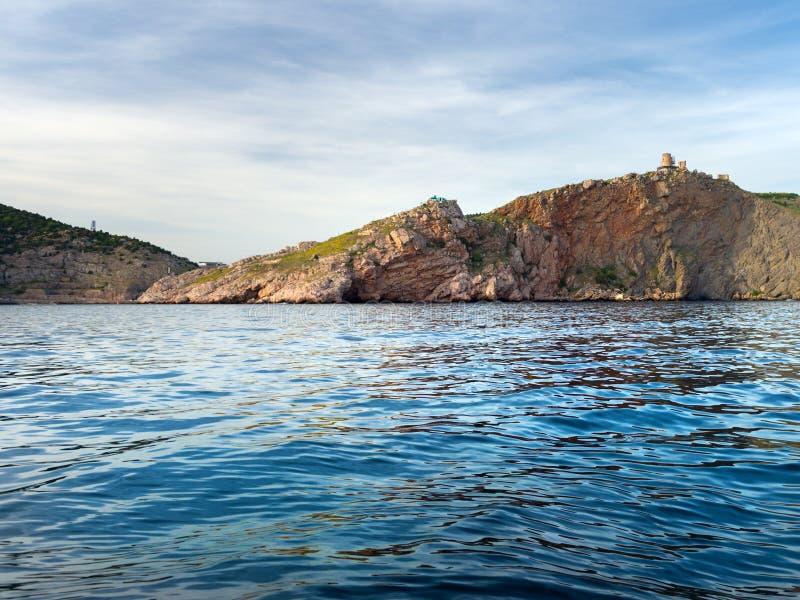 Altos mares cerca del pasamontañas, Crimea, base submarina soviética secreta imagen de archivo libre de regalías