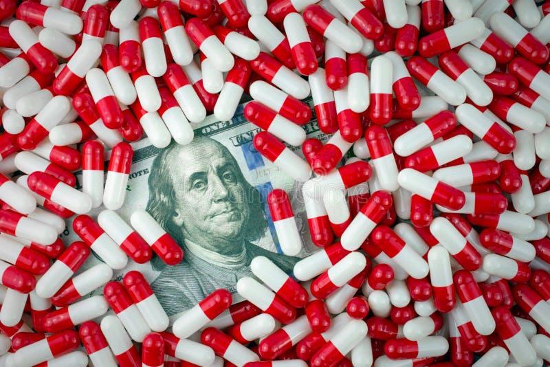 Altos precios del medicamento gen?rico foto de archivo