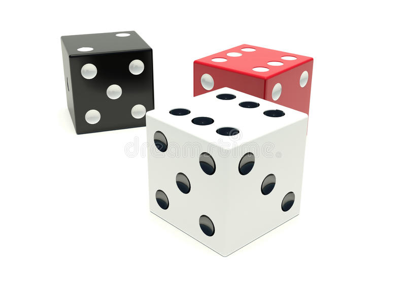Altri tre cubi illustrazione vettoriale