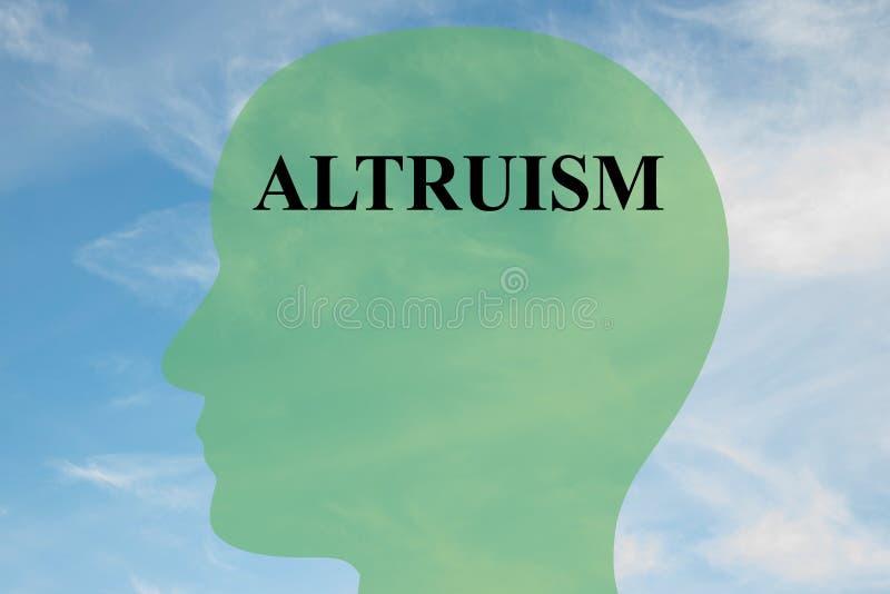 Altruismo - concepto mental ilustración del vector