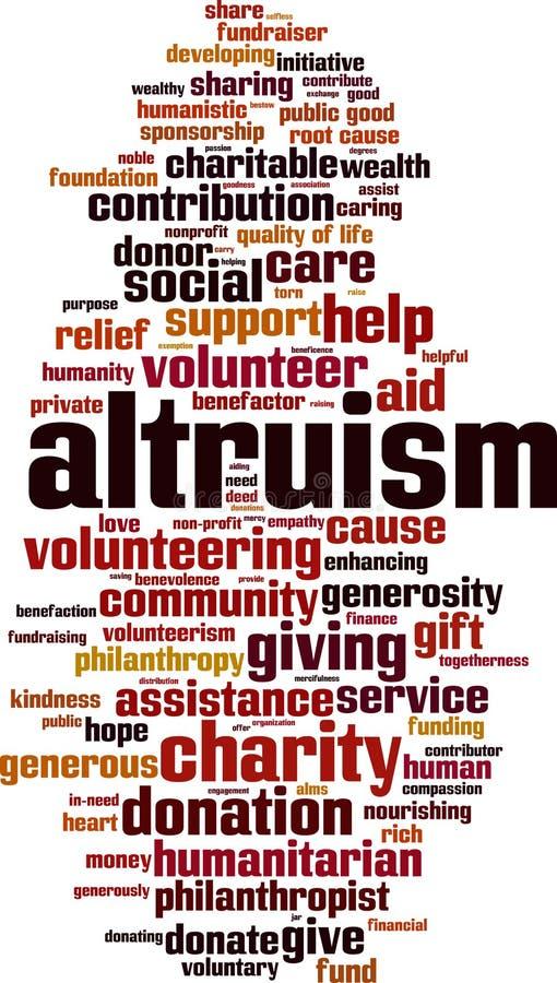 Altruizmu słowa chmura ilustracji