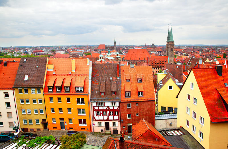 Altstadt в Нюрнберге стоковые изображения rf