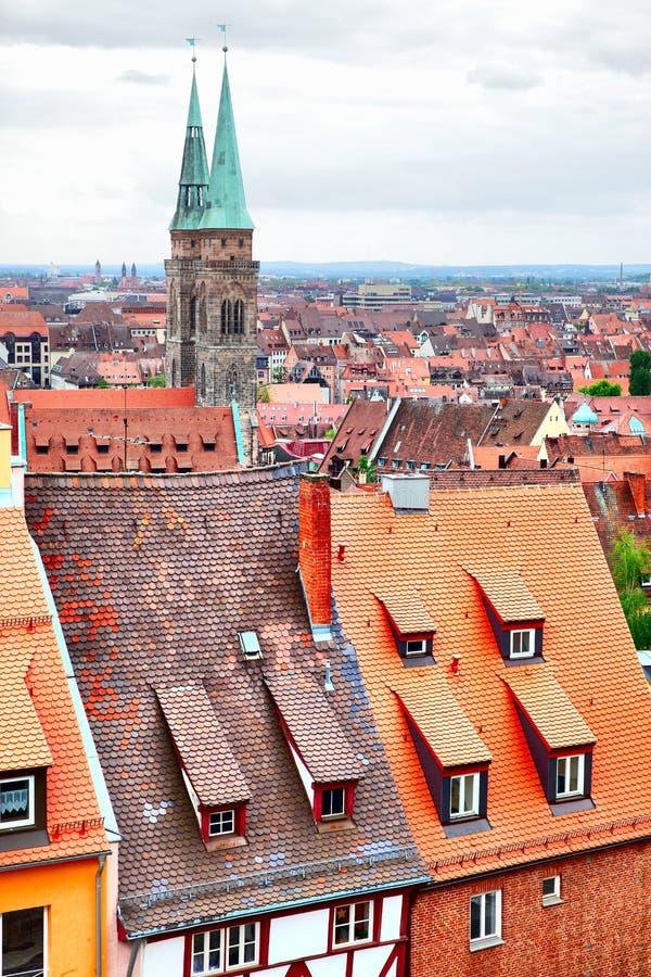 Altstadt в Нюрнберге стоковое фото rf