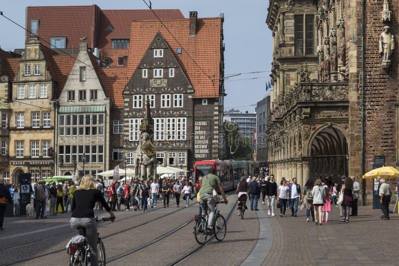 Altstadt - Bremen en Alemania de nordeste imágenes de archivo libres de regalías