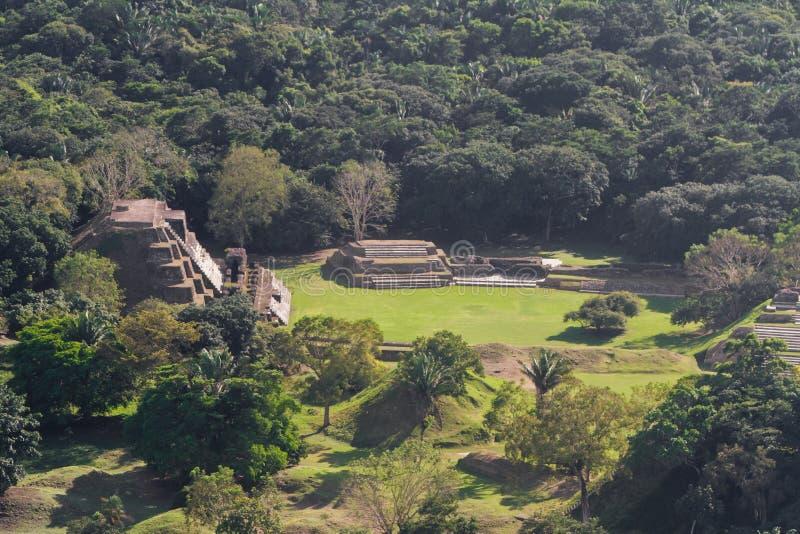 Altun brzęczenia, majowie ruiny zdjęcia stock