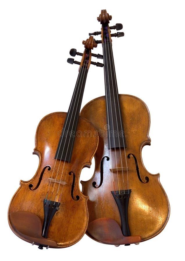 Altviool en viool royalty-vrije stock afbeeldingen