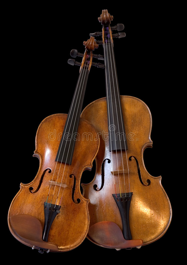 Altviool en viool II stock foto