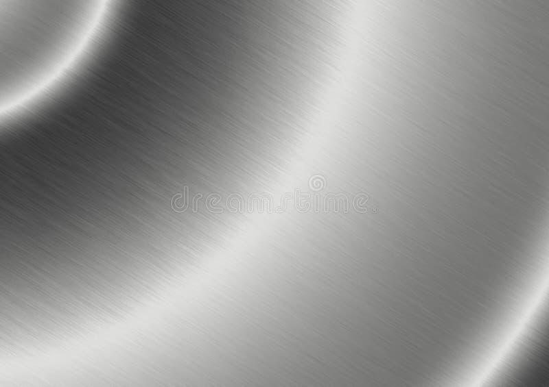 Aluminio aplicado con brocha con la reflexión radial fotografía de archivo