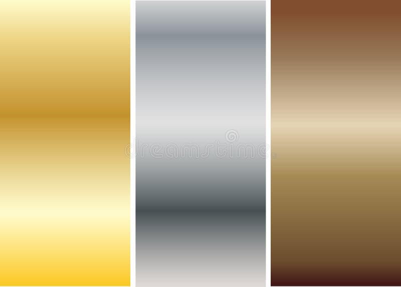 Aluminio, bronce y latón cosidos stock de ilustración