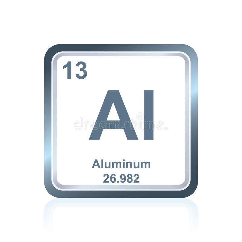 Aluminio del elemento qu mico de la tabla peri dica - Simbolo de aluminio ...